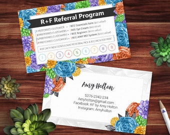 Rodan and Fields Preferred Customer, Rodan and Fields Punch Cards, Pc Perks, Referral Cards, Consultant Gift, Rodan&Fields Referral Program