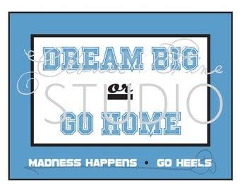 INSTANT DOWNLOAD • Go Heels • March Madness • UNC • Carolina •Tar Heels • Chapel Hill • jpeg • 8.5 x 11 inches • downloadable • printable •