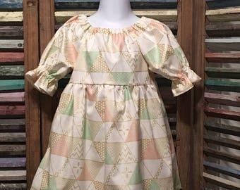 Girls dress, Girls peasant dress, Little girls dress, Toddler dress, Boho girl dress, Size 2, Girls spring or summer dress, #222