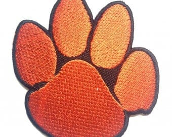 Patch/ironing-dog paw animal-red-6.6 x 7 cm-by catch-the-Patch ® patch appliqué applications for ironing application patches patch