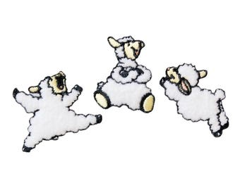 Patch/ironing-Set sheep child animal-white-various sizes-by catch-the-Patch ® patch appliqué applications for ironing application patches patch