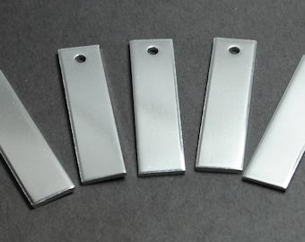 "Five, Ten or Twenty - Five Aluminum Keychain Blanks - 1/2"" x 2"" - 14g, 1100 Food Safe Aluminum"