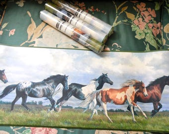 WILD HORSES York Wallpaper Border Rolls Lot of 4