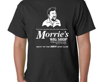 Morrie's Wig Shop T-Shirt - GOODFELLAS The Godfather Scarface Casino Funny Mafia