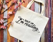 Reading Tote Bag- Book Sw...