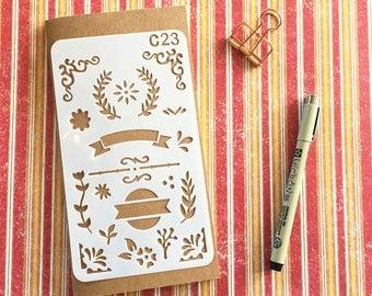 Bullet Journal Stencil #C23 - Planner, Journal, Craft, Scrapbooking, Decoration