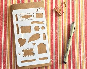 Bullet Journal Stencil #C24 - Planner, Journal, Craft, Scrapbooking, Decoration