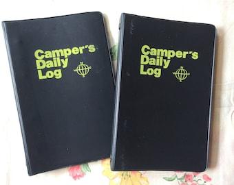 Campers World camping log / set of 2
