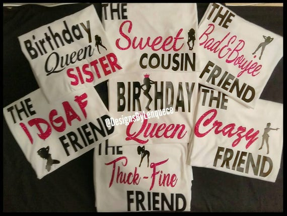 Women S Birthday Shirts Birthday Squad Shirts Birthday