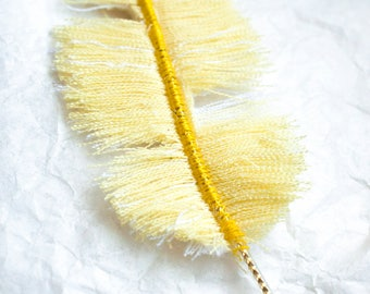 Frazzled Canary: Feather textile jewelry, jewelry bags, accessories, decoration...