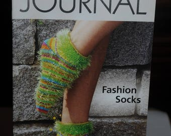 "Book: ""Journal"" knit socks"