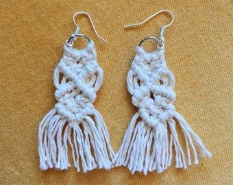 Macrame Drop Earrings | Dangle | Fiber | Weaving | Jay