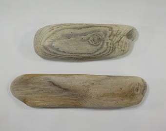 2 Small Driftwood  Sculptures 8.3-10.6''/21-27 cm Beautiful Shaped Driftwood,Natural Beach Decor, Driftwood for Arts ,Amazing Driftwood #11A