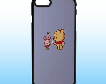 Winnie the Pooh and Piglet Custom Iphone Case, Iphone 5, 6, 7, 8, X