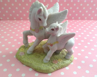 Unicorn White Pegasus Whimsical Fantasy Figurine