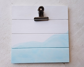 Dyed Clip Picture Frame-BLUE