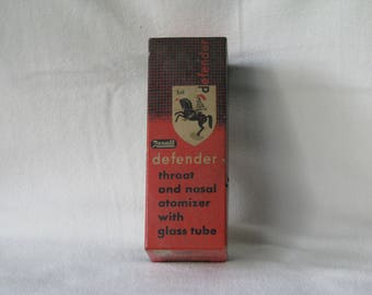 Pharmaceutical, Throat and Nasal Atomizer, Rexall Defender #1541, Made in USA, Estimated from 1950's