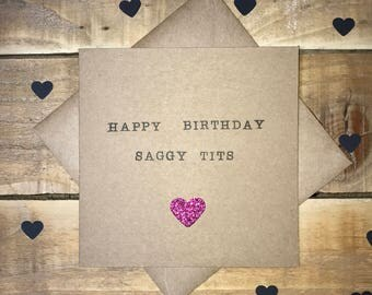 Handmade Adult Humour / Rude / Alternative Birthday Card