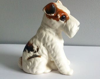 Wire Fox Terrier Ornament, 4 inch tall, China.