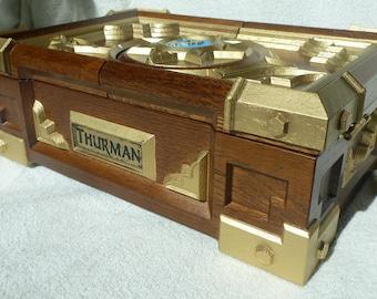 Custom Hearthstone Box Replica HearthStone Video game Wooden Card Game Jewelry Box