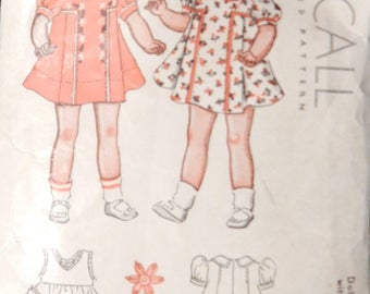 Vintage 1930's McCall Doll Clothes Pattern