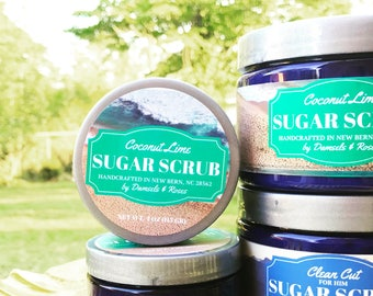 Emulsified scrub with organic Shea butter and avocado oil