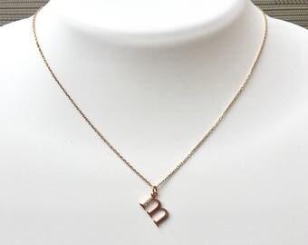 Diamond M Necklace