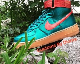 Custom High Top Nike Air Force Ones