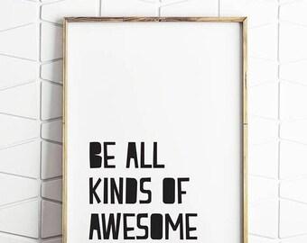 80% OFF awesome print, awesome art, awesome decor, awesome poster, awesome download, awesome quote, awesome saying, awesome art