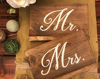 Mr. and Mrs. Sweetheart Table Signs