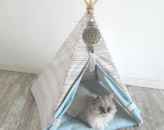 Teepee for your pet. Dog, cat or rabbit. Ready to ship.
