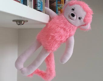 Monkey, Stuffed Animal Monkey, Monkey Rag Doll named Grace