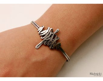 Inox bracelet from Tangled series. Handmade.