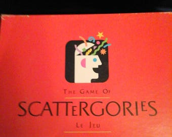 Vintage 1988 Milton Bradley The Game of Scattergories Board Game COMPLETE