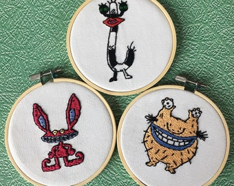 Ahh! Real Monsters Embroidery hoops set of 3