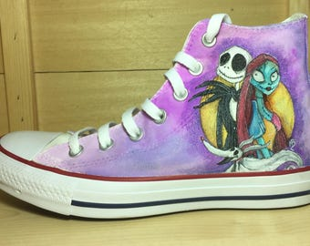 Converse dipinte a mano - Converse personalized handpainted Night before Christmas Jack