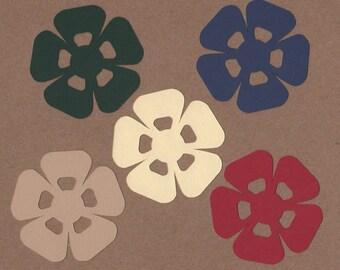 "25 - 2.25"" Flower Die Cuts Paper Craft Embellishments Set 26"