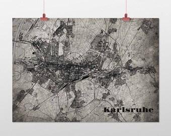 Karlsruhe - A4 / A3 - print - OldSchool
