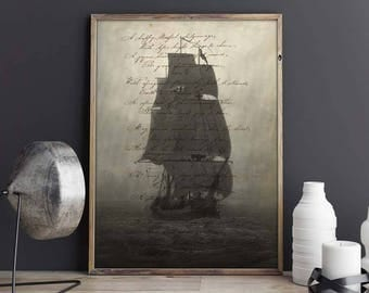 Sailing ship-Din A4-Fine Arts-print
