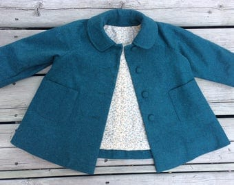18-24 months - Girls' Green Wool Coat