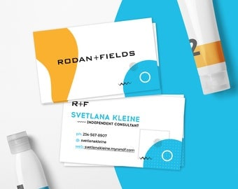 Rodan and Fields Business Card, Rodan + Fields Business Cards, Modern Style, For RF Independent Consultants, Free Personalized