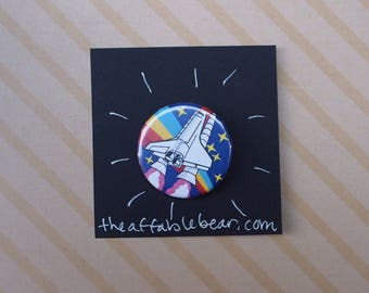 """Outer Space 1.25"""" Button"""