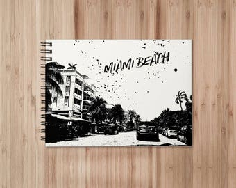 Miami Beach Notebook/Sketchbook Wire Bound - Blank pages