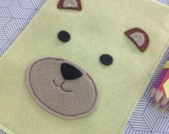 Teddy bear picnic children's party loot goodie favour felt bag with handle - made to order
