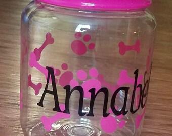 Dog cat pet treat container