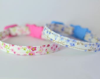 Valentine cat collar breakaway - Valentine kitten collar - cotton cat collars -  breakaway collar cat