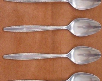 International Stainless Fascination Four Teaspoons