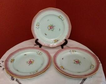 Adams Calyx Ware Lowestoft Dinner Plates Set of 5