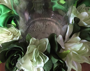 center piece candle ring 10 inch ring green 211