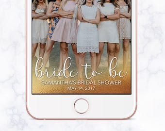 Bride To Be Bridal Shower Snapchat Filter, Bridal Shower Snapchat Geofilter, Bridal Shower Snap Chat, Bridal Shower Geofilter, Gold Foil